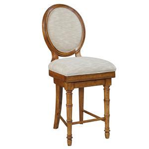 Broyhill Furniture Samana Cove Upholstered Swivel Counter Stool