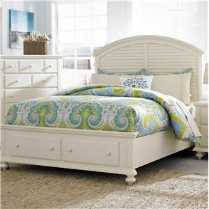 Broyhill Furniture Seabrooke Queen Panel Bed with Storage Footboard