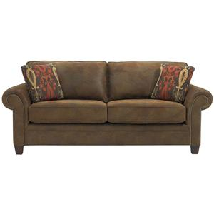 Broyhill Furniture Travis Transitional Queen Air Dream Sleeper Sofa