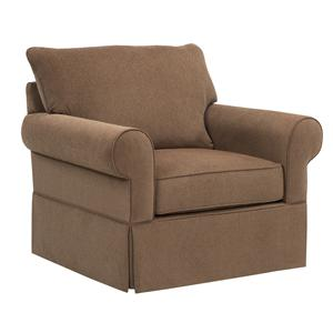 Broyhill Furniture Uptown Traditional Chair and a Half