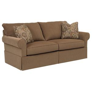 Broyhill Furniture Uptown Traditional Queen Air Dream Sleeper Sofa