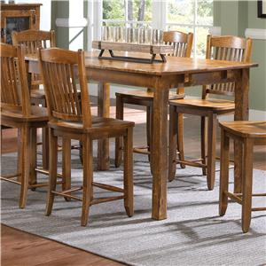 Canadel Champlain Custom Dining Customizable Rectangular Counter Table Set Gardiner Wolf