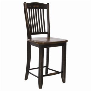 Canadel Champlain - Custom Dining <b>Customizable</b> Slat Back Bar Stool