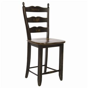 Canadel Champlain - Custom Dining <b>Customizable</b> Ladderback Counter Stool