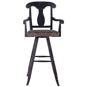 "Canadel Champlain - Custom Dining <b>Customizable</b> 30"" Uph Swivel Stool"