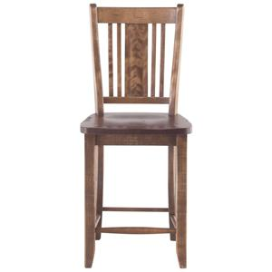 "Canadel Champlain - Custom Dining <b>Customizable</b> 24"" Fixed Bar Stool"