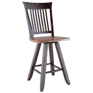"Canadel Champlain - Custom Dining <b>Customizable</b> 24"" Swivel Stool"