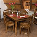 Canadel Champlain - Custom Dining <b>Customizable</b> Table and Chair Set - Item Number: TAB 0-3878+2xCHA 0600-PCWA+4xPC