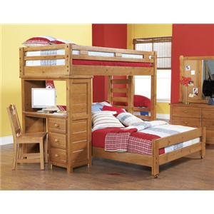 Morris Home Furnishings Cisco Cisco Twin Bunkbed with Desk