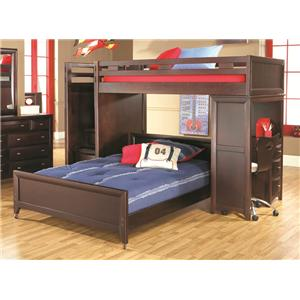 Morris Home Furnishings Canton Canton 7pc Twin Loft Bed with Steps