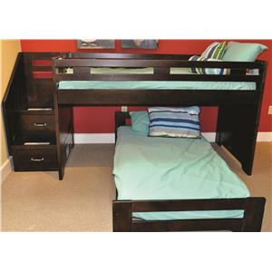 Morris Home Furnishings Lost Lake Lost Lake Loft Bed w/Caster Bed