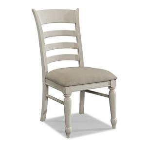 Carolina Preserves by Klaussner Sea Breeze White Ladder Back Side Chair