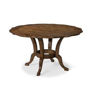 Easton Collection Farmhouse 54 Inch Round Dining Table