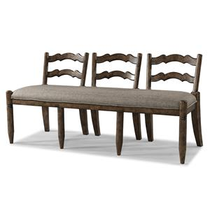 Easton Collection Farmhouse Ladderback Dining Bench