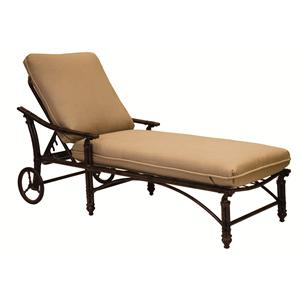 Castelle by Pride Family Brands Coco Isle Adjustable Cushioned Chaise Lounge w/Wheels