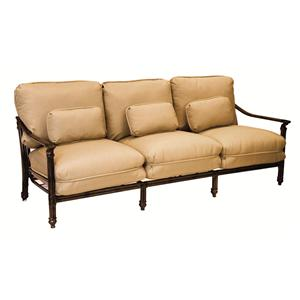 Castelle by Pride Family Brands Coco Isle Cushioned Sofa w/ Three Kidney Pillows