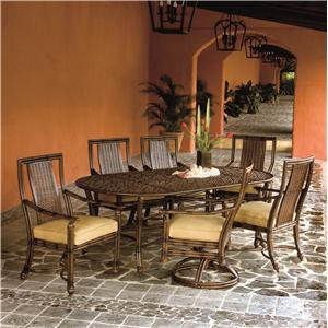 Castelle by Pride Family Brands Coco Isle Outdoor Formal Dining Collection