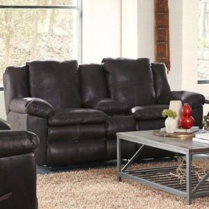 Power Lay Flat Reclining Loveseat with Console