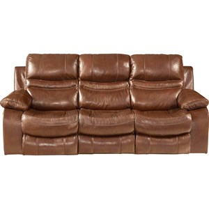 Lay Flat Reclining Sofa with Pillow Arms