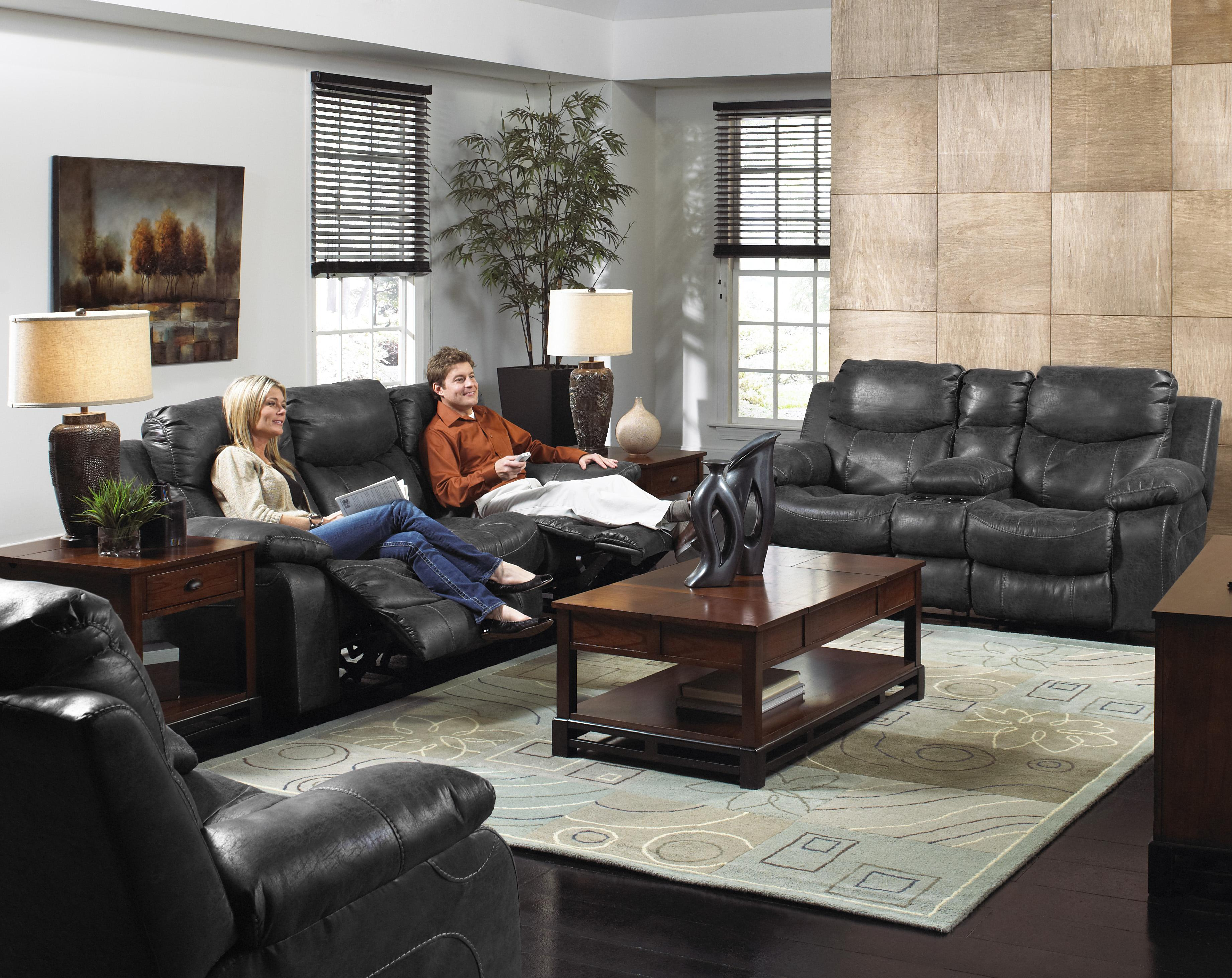 Leather Couch Family Room Part - 27: Power Reclining Faux Leather Sofa For Living Rooms And Family Rooms