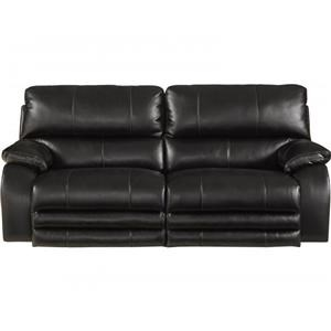 Dual Reclining Sofa with Power Headrest