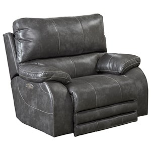 Recliner with Power Headrest and Power Lay Flat