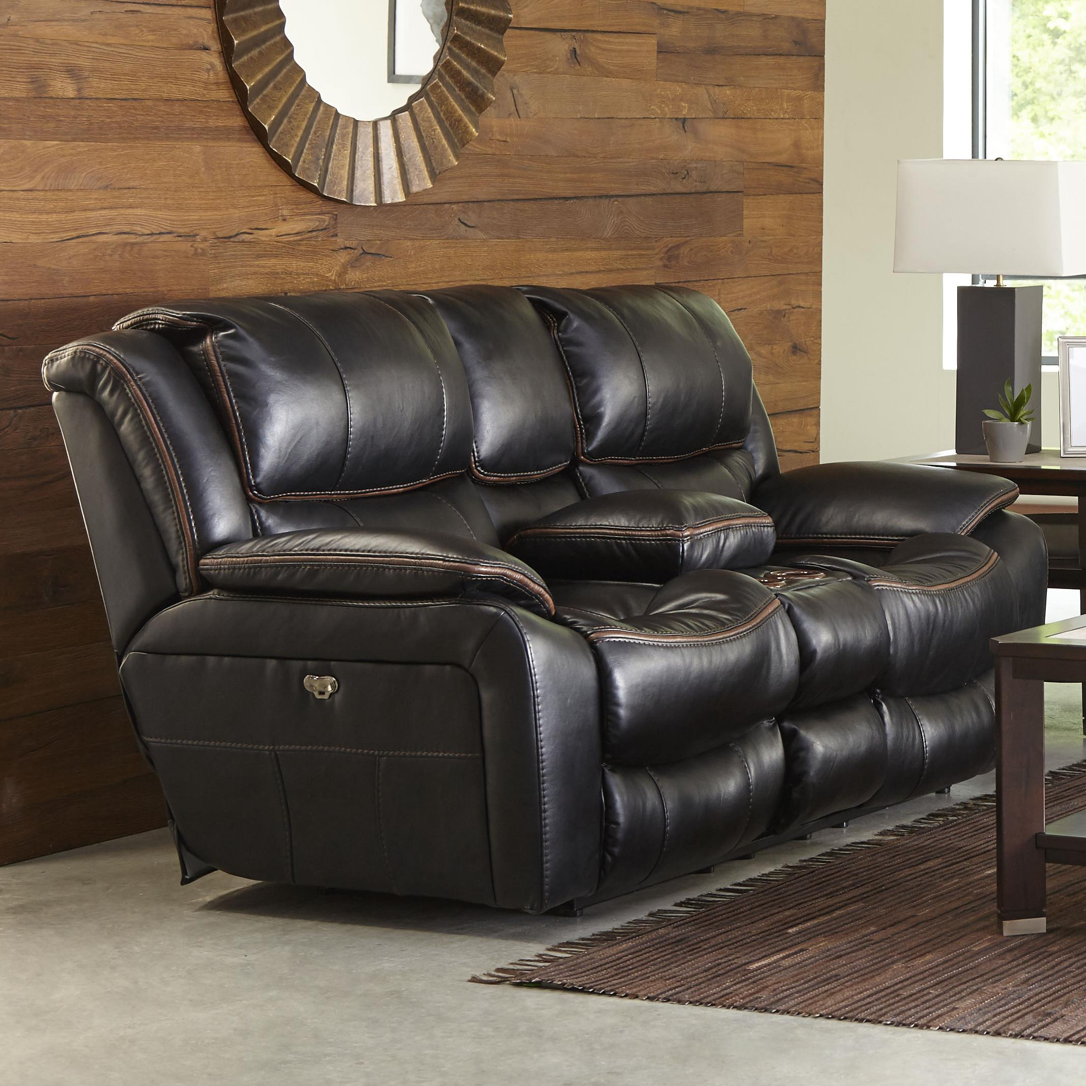 Power Reclining Loveseat with USB Port Cup Holders and Storage