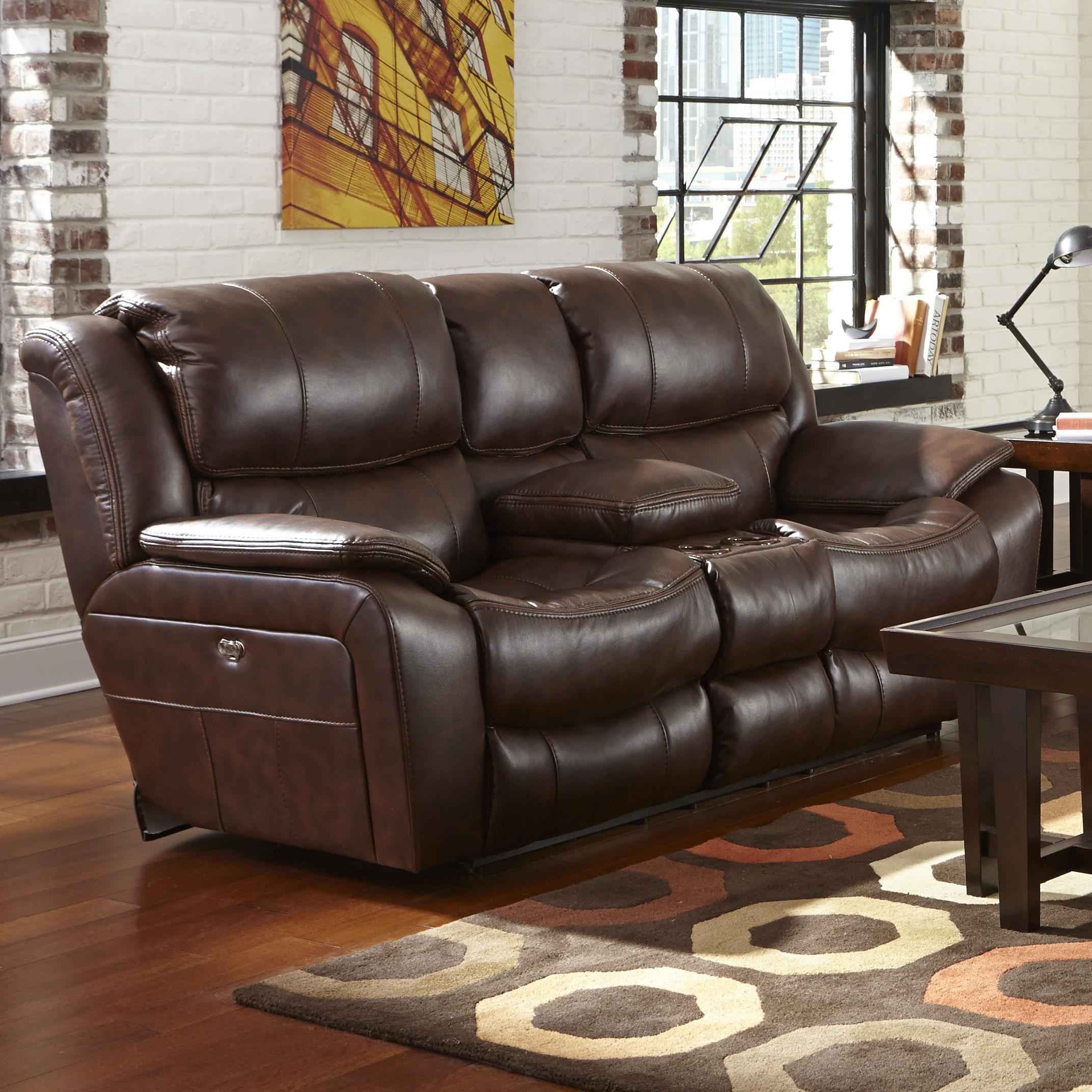 Reclining Loveseat With Usb Port Cup Holders And Storage Console By Catnapper Wolf And