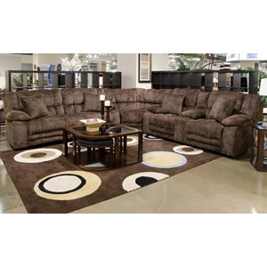3 Piece Power Lay Flat Reclining Sectional with Extended Ottomans