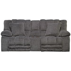 Lay Flat Reclining Loveseat with Storage and Cup Holders
