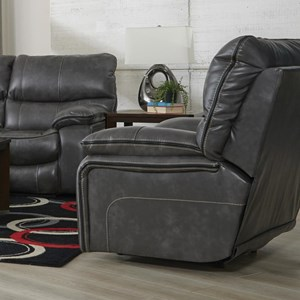 Power Lay Flat Recliner with Welt Stitching