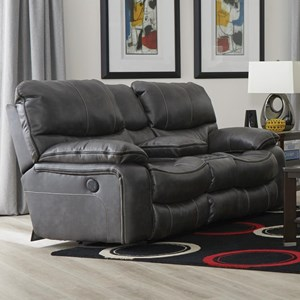Power Reclining Lay Flat Console Loveseat with Cup Holders