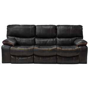Power Lay Flat Reclining Sofa with Welt Stitching