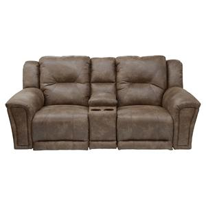 Catnapper Collin Power Lay Flat Console Loveseat