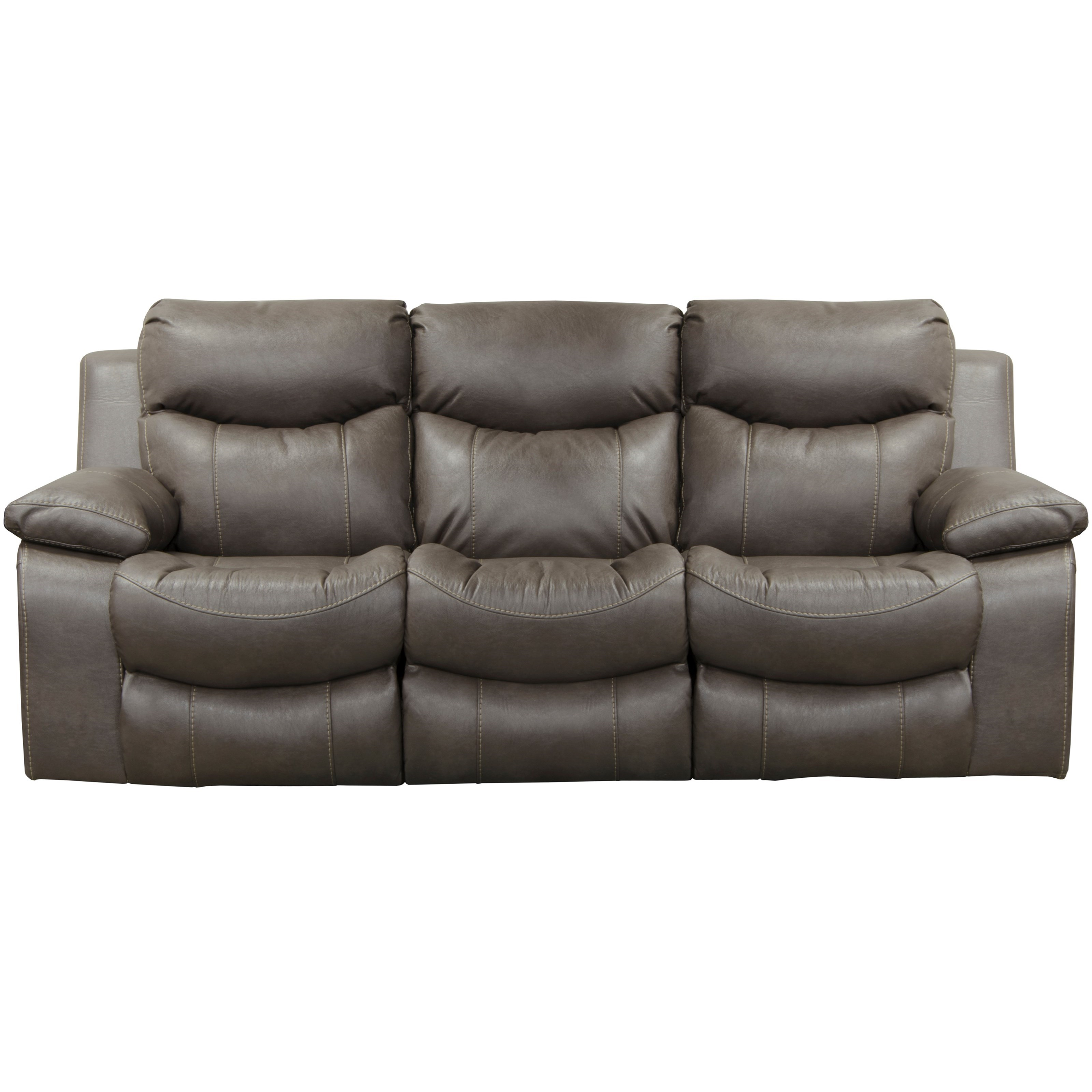 Casual Lay Flat Power Reclining Sofa With Power Headrest And Drop