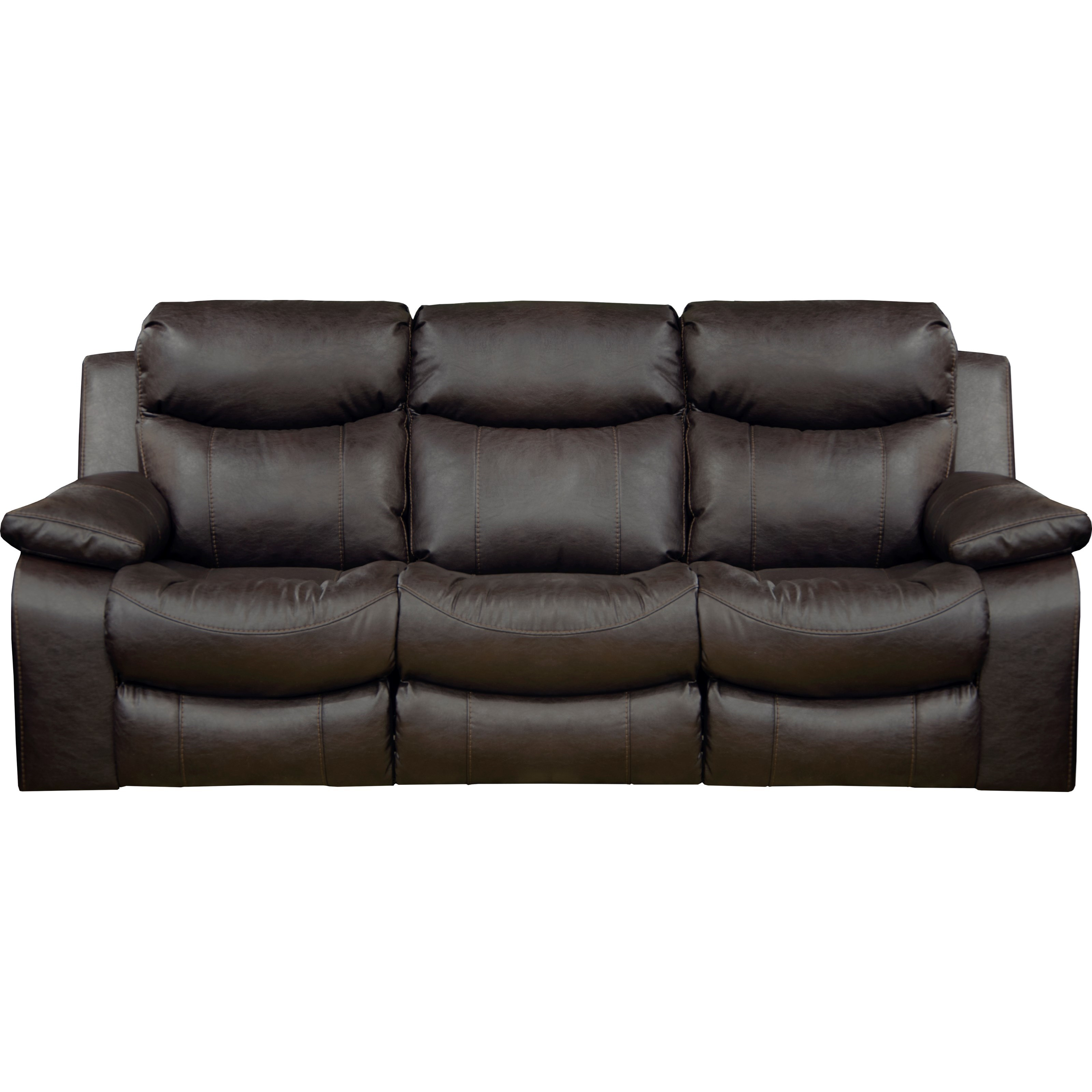 Casual Power Lay Flat Reclining Sofa With Power Headrest And Lumbar Support