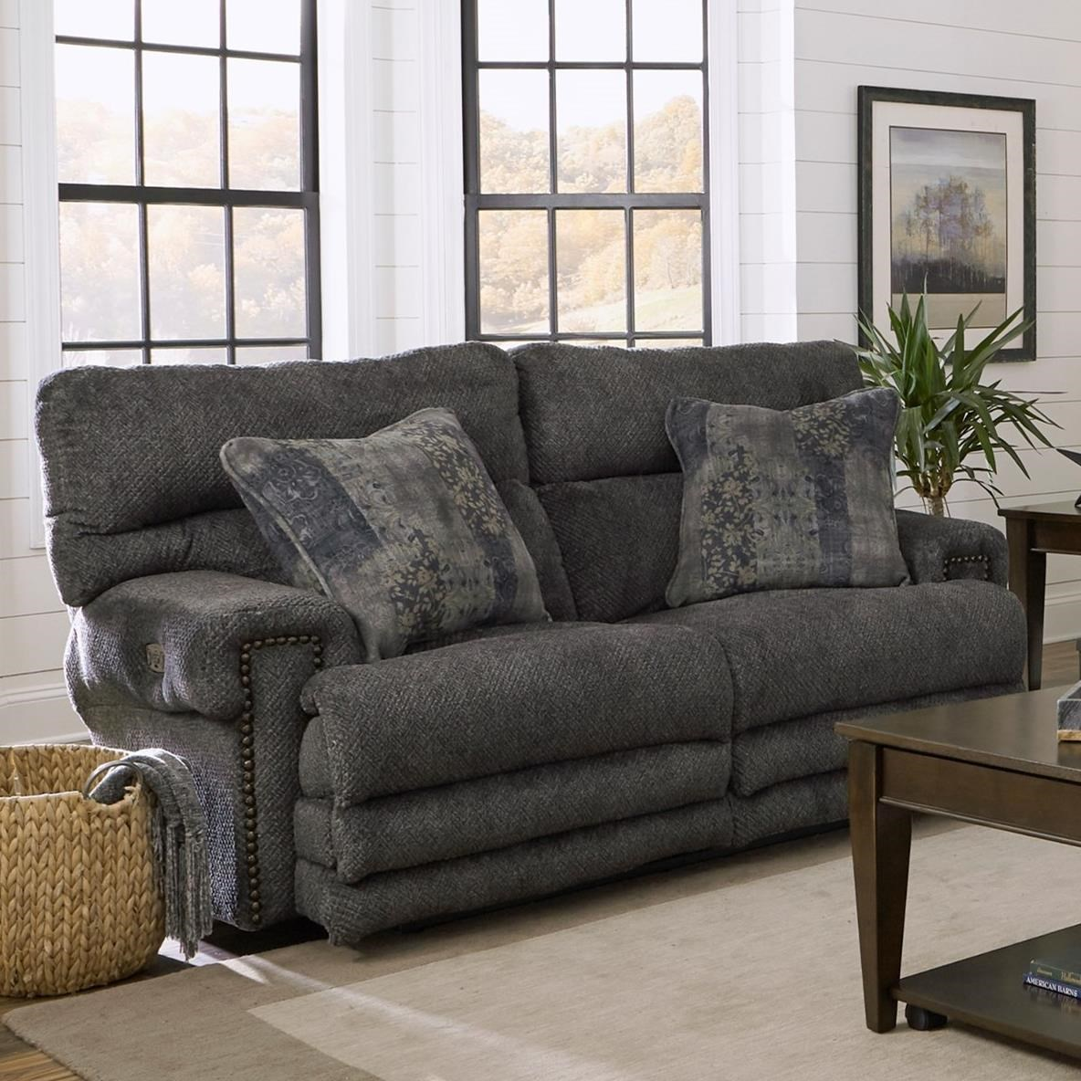 Power Headrest Power Lay Flat Reclining Loveseat With Extended
