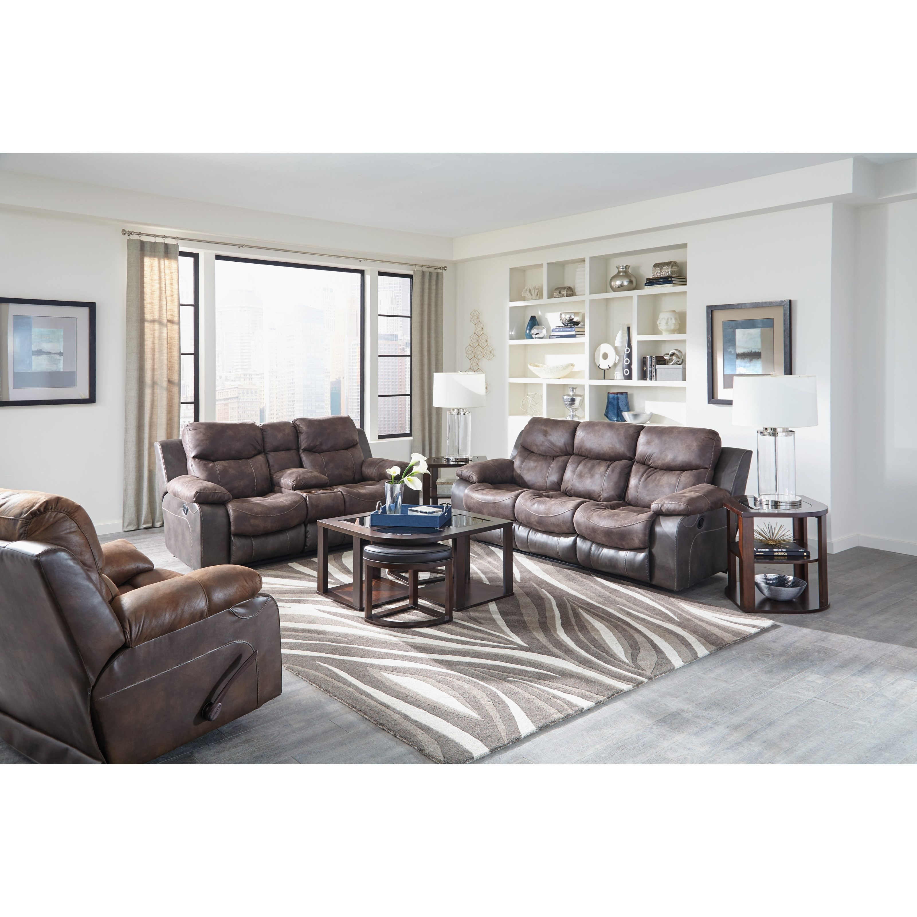 Reclining sofa with drop down table by catnapper wolf and reclining sofa with drop down table geotapseo Choice Image