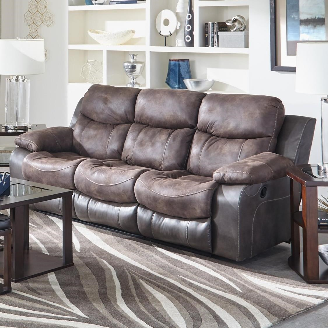 Power Reclining Sofa With Drop Down Table By Catnapper Wolf And