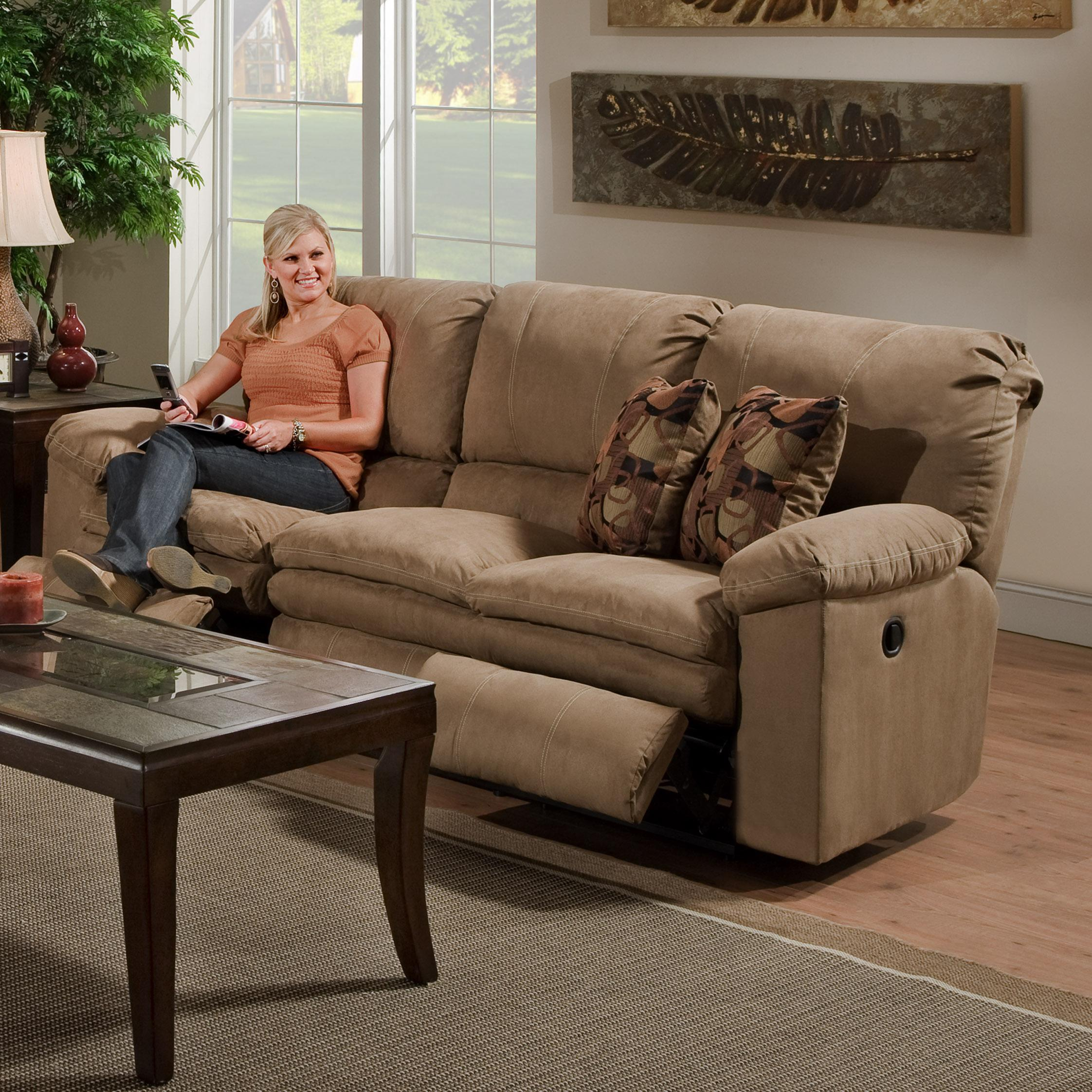 3 Person Reclining Sofa By Catnapper Wolf Furniture