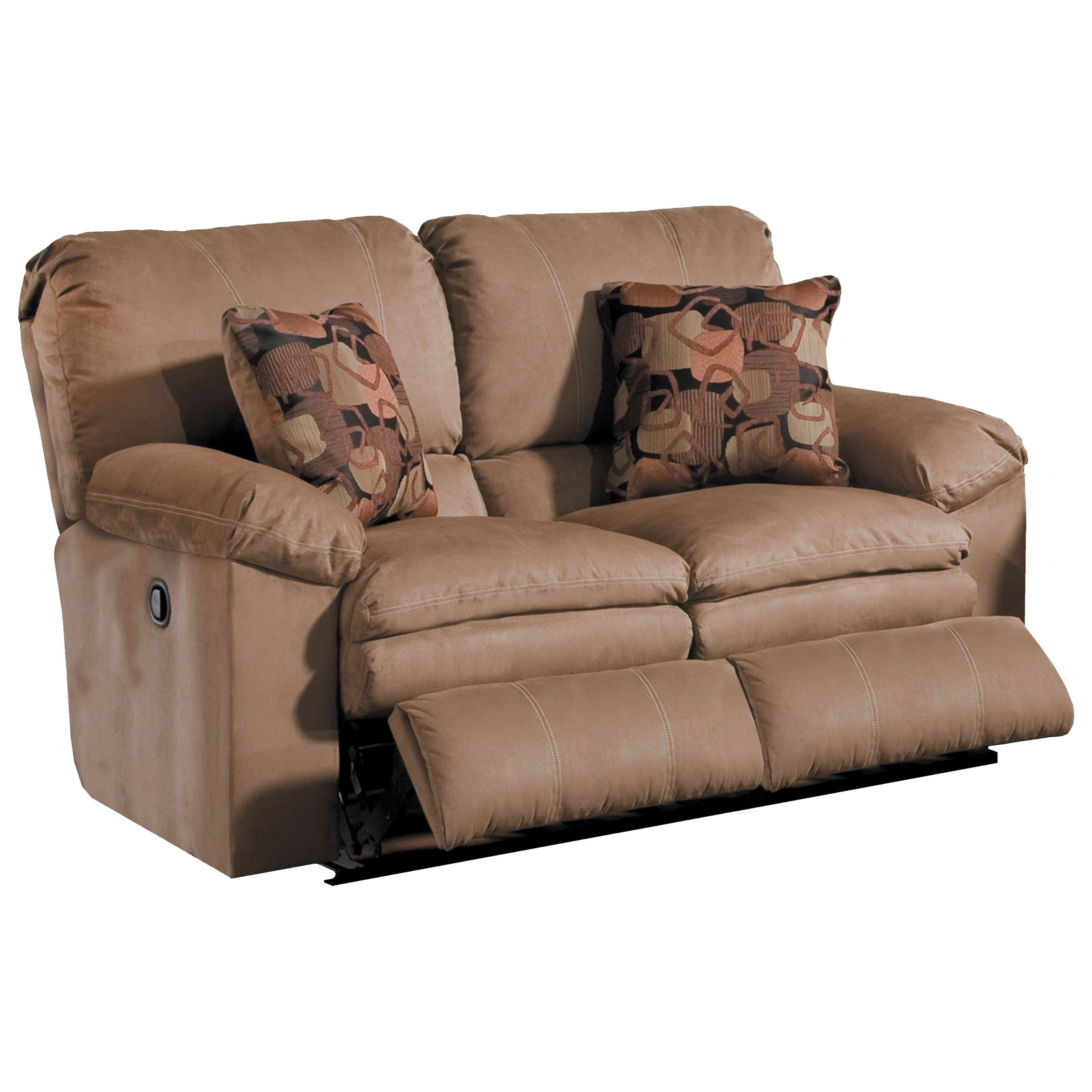 Power Reclining Loveseat With Pillow Arms By Catnapper