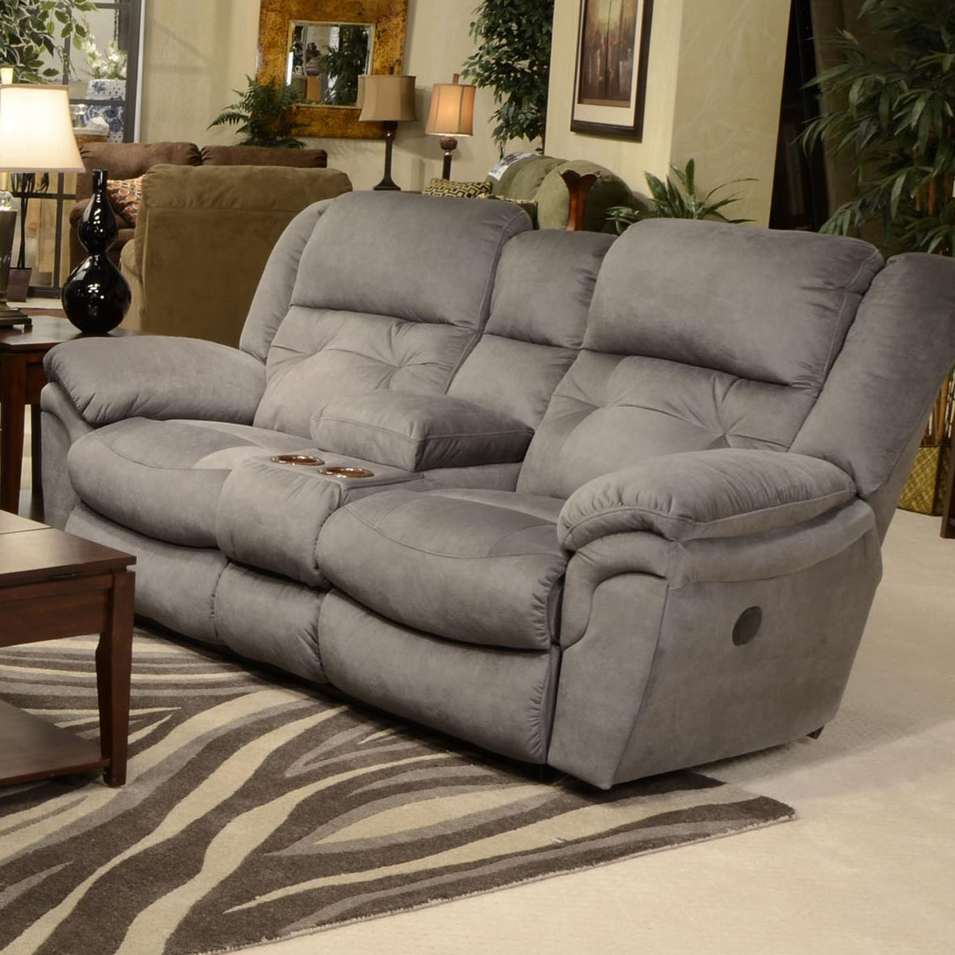brown product console mcgregors two reclining loveseat furniture tone in
