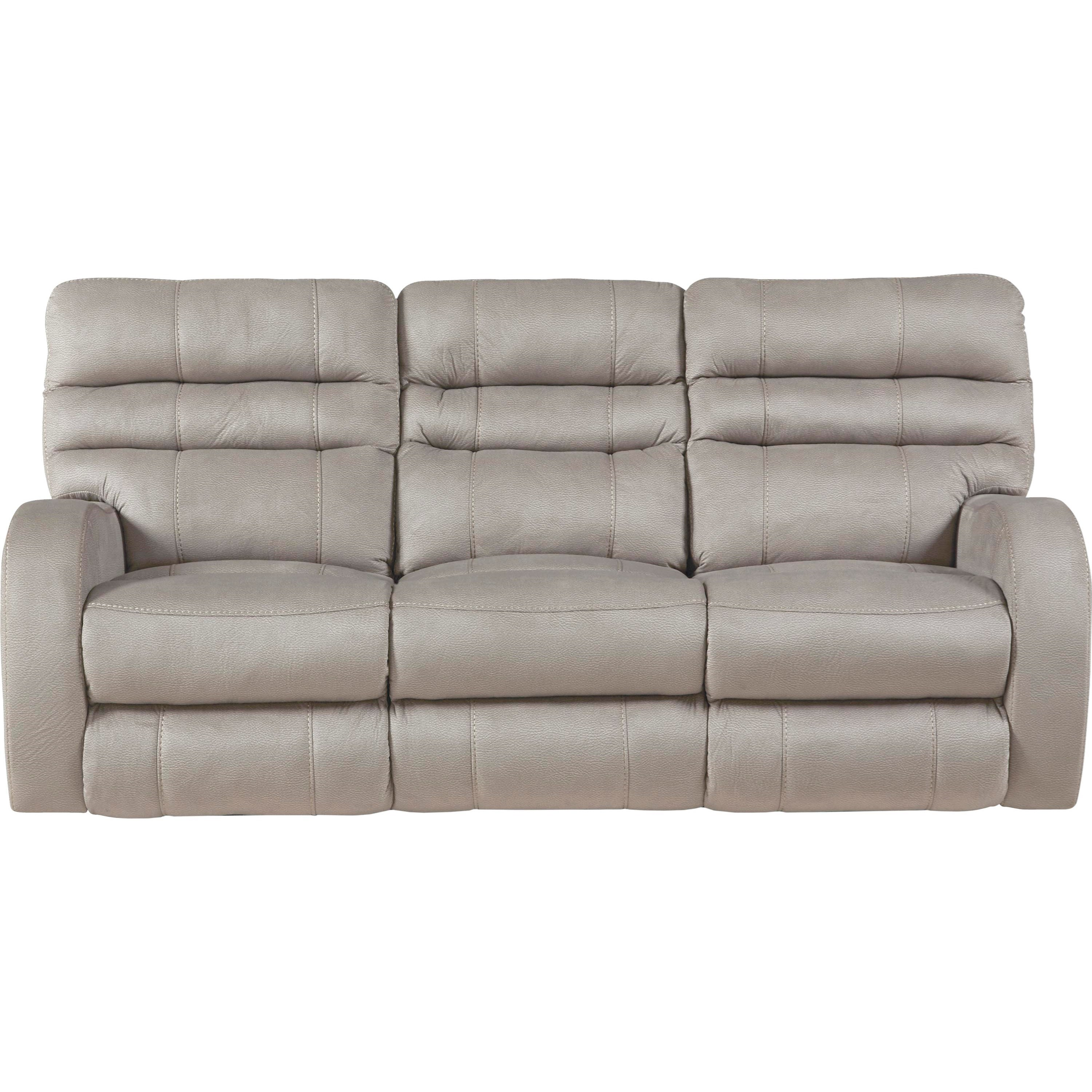 Contemporary Power Lay Flat Reclining Sofa with Power ...