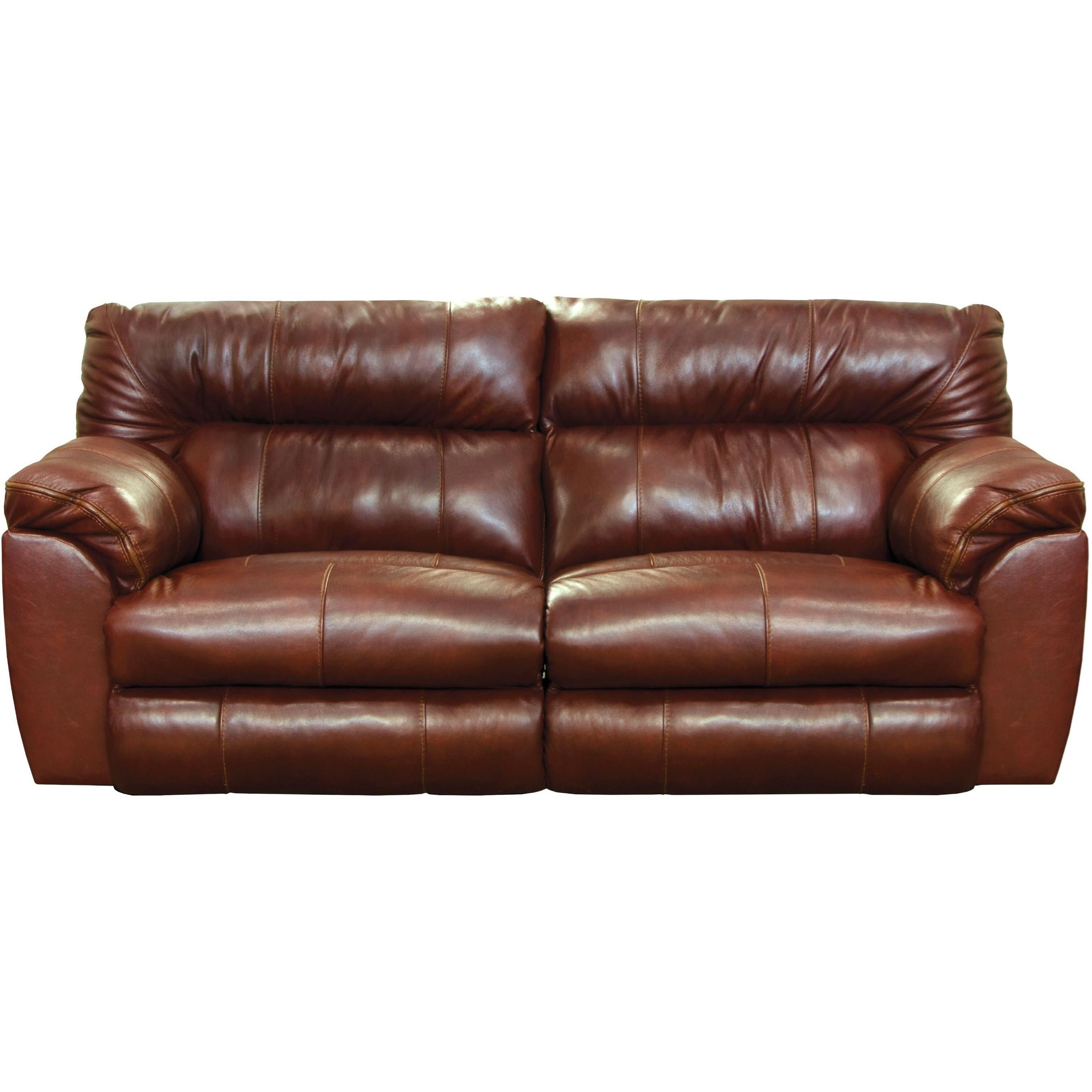 Casual Leather Power Lay Flat Reclining Sofa With Usb