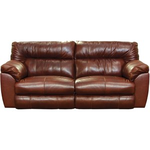Casual Leather Power Lay Flat Reclining Sofa with USB Charging Ports