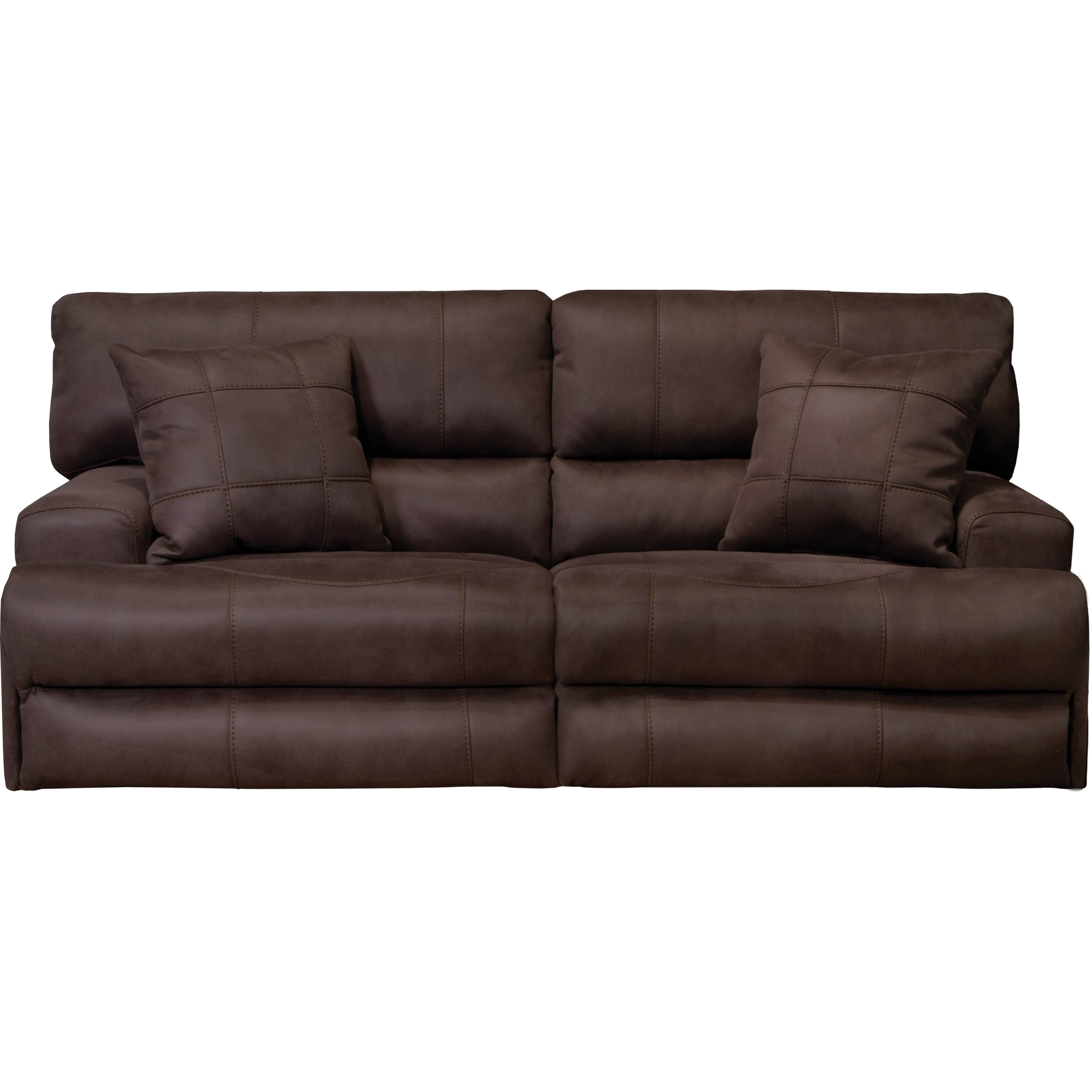 Power Headrest Lay Flat Reclining Sofa With Lumbar By
