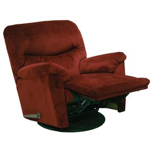 Catnapper Motion Chairs and Recliners Juniper Swivel Glider Recliner in Casual Furniture Style
