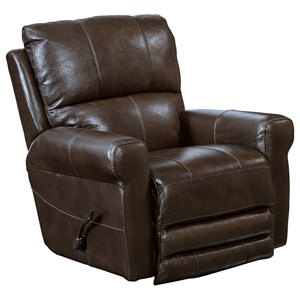 Swivel Glider Recliner with Padded Headrest