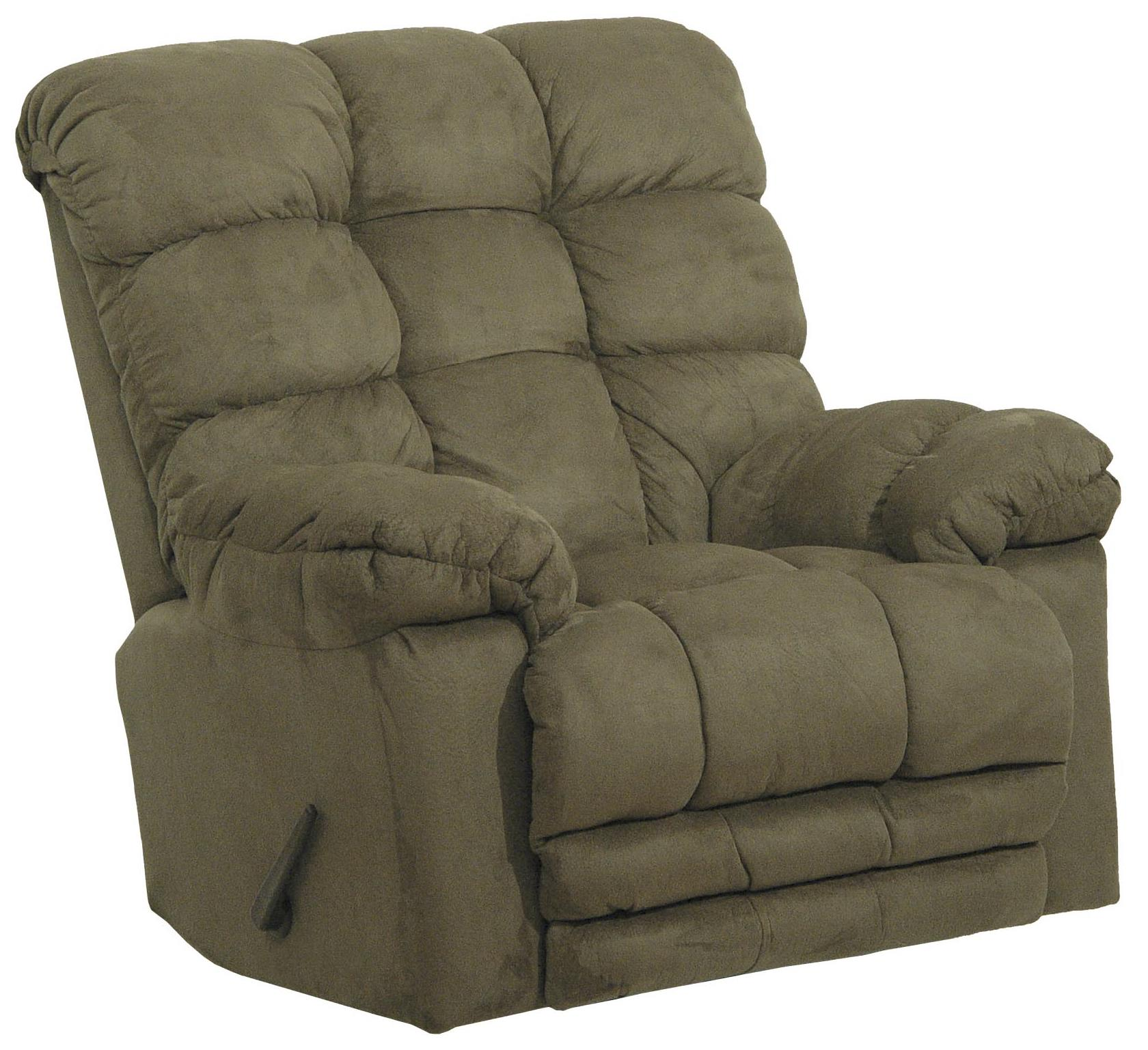 Magnum Chaise Rocker Recliner With Heat And Massage By