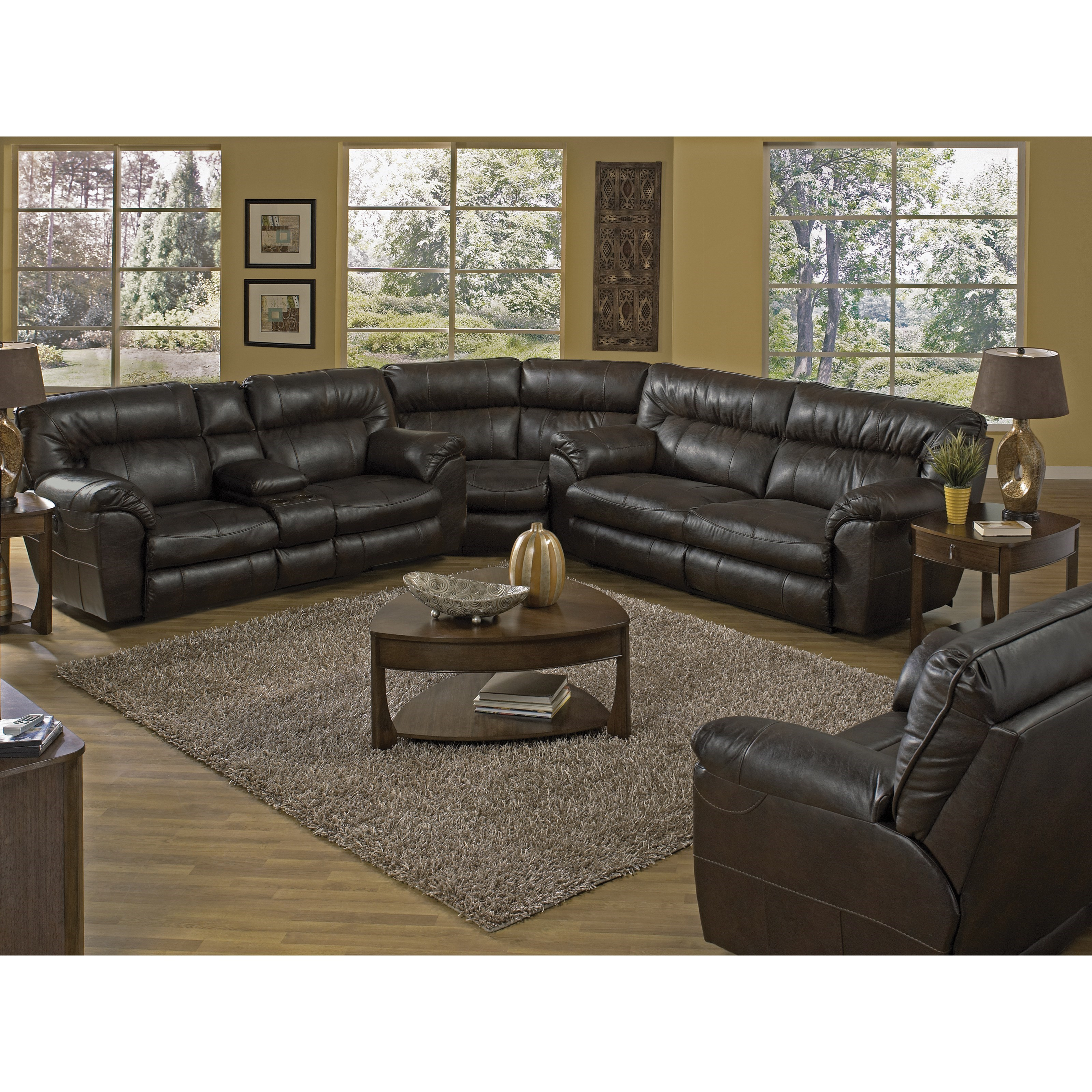 Casual Extra Power Wide Reclining Sofa With Tall Back By